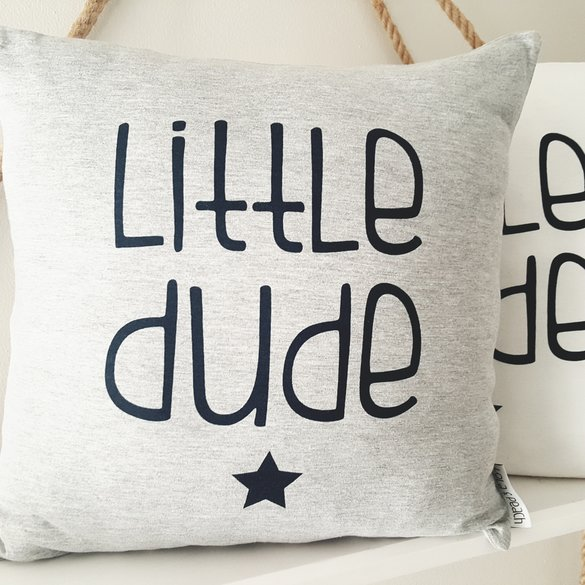 Scatter Cushion Cover - Little Dude Grey