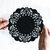 Black felt potholder, doily design by Touchee Feelee