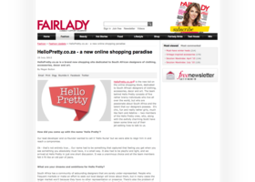 HelloPretty.co.za - a new online shopping paradise in FAIRLADY