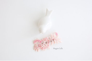 Maddie shades of pink beaded hair clip by Magpie Calls