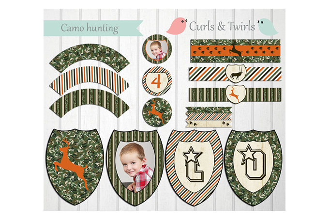photo relating to Camo Printable Paper named Camo Looking Bash Printables