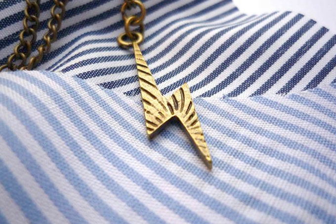 Lightning Bolt Necklace by Bow Peep