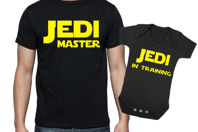 Star Wars Jedi Master Father And Baby Combo Jedi Master