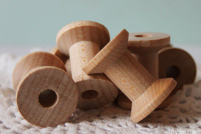 Little Wooden Spools Hello Pretty Buy Design