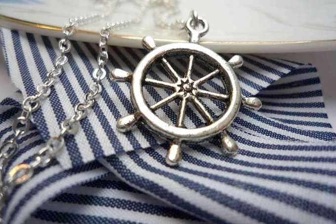 Nautical Wheel Necklace by Bow Peep