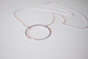 Circle Outline Necklace in Silver by Haute and Tidy