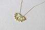 Brass Lotus Flower Pendant on Silver Chain by Liwo Design