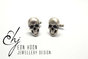 Sterling Silver Skull Cufflinks by Eon Hoon Jewellery Design