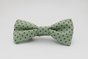 pre-tied bow tie, green with brown polka dots by Bow Peep