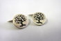 Sterling Silver Tree of Life Cuff-Links  by House of Kallie