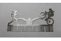 Lady Triathlon medal hanger in Stainless steel brush finish by DC Designers-Medal Hanger Specialists