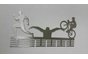 Triathlon Man medal hanger in Stainless steel brush finish by DC Designers-Medal Hanger Specialists