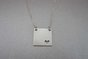 Silver Square Necklace with cut-out heart by GK Jewellery