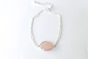 Pink Chalcedony Silver Bracelet by Haute and Tidy