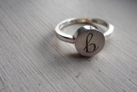 custom lowercase initial ring by thula