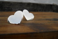 big heart stud earrings by thula
