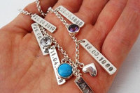 personalized gemstone charm bracelet by thula