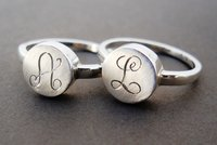 monogram initial ring by thula