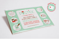 Postick - Pack of 10 adhesive postcard-back labels by Postcard Happiness