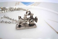 Sewing Machine 1 Necklace by Bow Peep