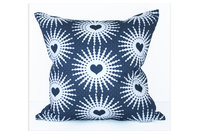 Shweshwe Hearts cushion cover by Design Kist