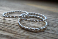 3 twisted rings set by thula
