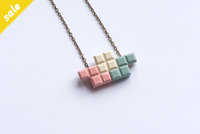 Tetromino triple Pendant #102 by dor&kie jewellery objects