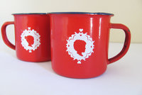 Red or Navy Woelwater Mug by tjou-tjou