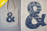 & Tote Bag Blue ON SALE!  by Bow Peep