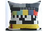 TV Pattern cushion cover by Design Kist